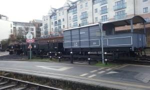 Wagon d'époque aux Docks de Bristol